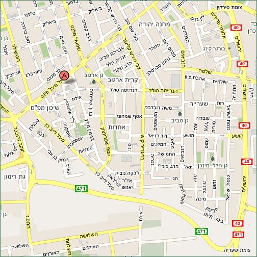 מפת הגעה לארבל - מרכז רפואי להחלמה וסיעוד
